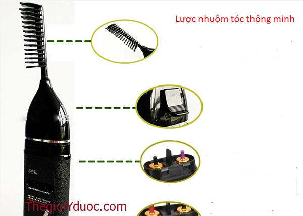 Lược nhuộm tóc thông minh ALIANG kẽm lõi thuốc nhuộm tóc thay thế (Đen)